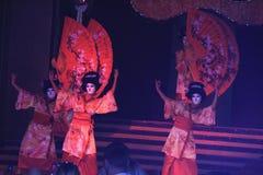 舞蹈扇动日语 库存图片