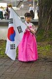 舞蹈教育女孩韩文社团 免版税图库摄影