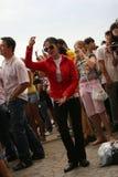 舞蹈杰克逊迈克尔・罗马尼亚进贡 库存图片