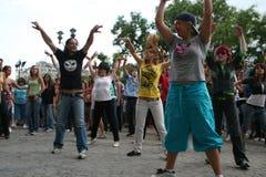 舞蹈杰克逊迈克尔・罗马尼亚进贡 库存照片