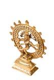 舞蹈查出的阁下nataraja shiva雕象 库存照片