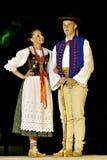 舞蹈民间波兰小组 图库摄影