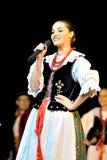 舞蹈民间波兰小组 库存图片