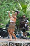 舞蹈民间pongrang泰国传统 免版税库存照片