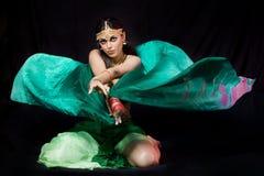 舞蹈演员东方人妇女 免版税库存图片