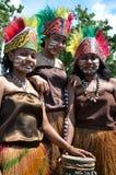 舞蹈演员传统的巴布亚 免版税图库摄影