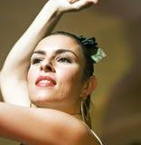 舞蹈演员佛拉明柯舞曲纵向 库存照片