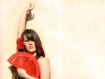 舞蹈演员佛拉明柯舞曲西班牙西班牙&# 免版税库存照片