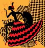 舞蹈演员佛拉明柯舞曲 皇族释放例证