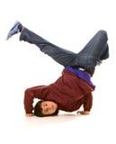 舞蹈演员冻结英俊的身分 免版税库存图片