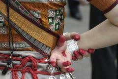 舞蹈演员印地安人 免版税库存照片