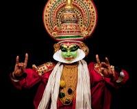 舞蹈演员印度kathakali 免版税库存照片