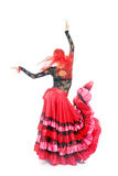 舞蹈演员吉普赛人 免版税库存照片
