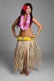 舞蹈演员夏威夷人hula 库存图片