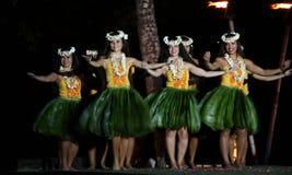 舞蹈演员夏威夷老lahaina luau 库存照片