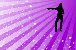 舞蹈演员天空 库存图片