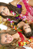 舞蹈演员女孩夏威夷人hula 免版税库存照片