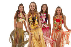 舞蹈演员女孩夏威夷人hula 库存照片