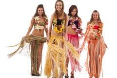 舞蹈演员女孩夏威夷人hula 免版税图库摄影