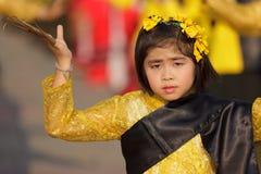 舞蹈演员女孩泰国的一点 免版税库存图片