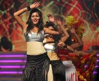 舞蹈演员女性印地安人 库存图片