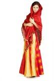 舞蹈演员女性吉普赛裙子 图库摄影