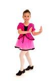 舞蹈演员微笑的轻拍 库存图片
