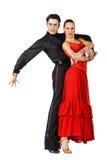 舞蹈演员拉丁美洲人摆在 免版税库存图片
