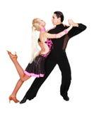 舞蹈演员拉丁超出白色 库存照片