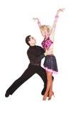 舞蹈演员拉丁超出白色 免版税图库摄影