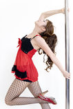舞蹈演员杆系列 免版税库存图片