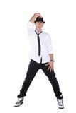 舞蹈演员查出的年轻人 库存图片