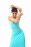 舞蹈演员查出的西班牙语 库存照片