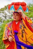 舞蹈演员民间日语 免版税库存照片