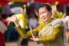 舞蹈演员泰国传统 免版税库存图片