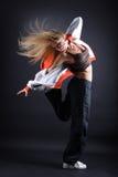 舞蹈演员现代妇女年轻人 免版税库存照片