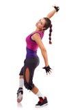 舞蹈演员现代摆在的样式妇女 免版税库存照片