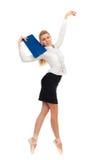 舞蹈演员的图象的女实业家 免版税库存图片