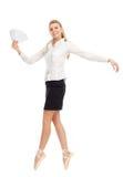 舞蹈演员的图象的女实业家 免版税库存照片