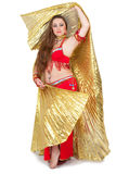 舞蹈演员礼服红色传统 库存图片