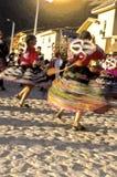 舞蹈演员秘鲁秘鲁人神圣的谷 免版税库存照片