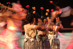 舞蹈演员移动 免版税库存图片