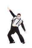 舞蹈演员笑剧纵向  库存照片