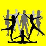 舞蹈演员组人 向量例证