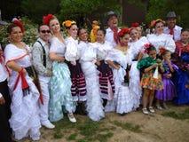 舞蹈演员编组墨西哥纵向 免版税图库摄影