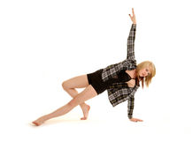 舞蹈演员舒展青少年 免版税库存图片