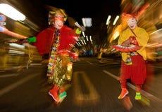 舞蹈演员节日日本屏蔽了晚上 库存照片