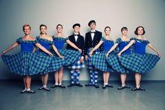 舞蹈演员苏格兰男用短裙 库存图片