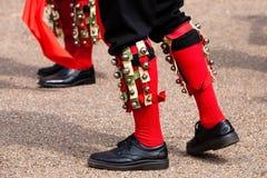 舞蹈演员英国essex morris 免版税库存图片