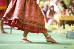 舞蹈演员英尺hula 免版税库存图片